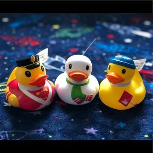 Other - Infantino Set of 3 Rubber Duckies